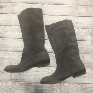 Nine West Vintage American Gray Suede Riding Boots